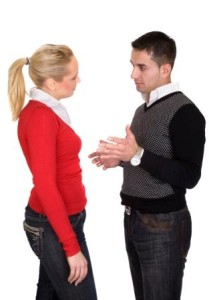 couple disagreeing - assertiveness and communication skills